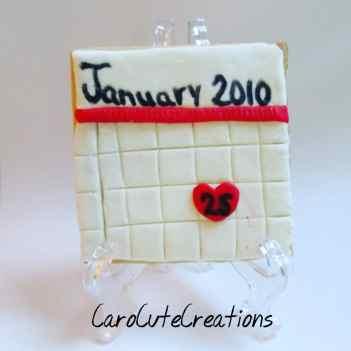 Calendar cookie