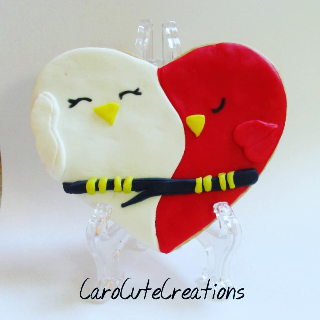 Two birds in love cookie