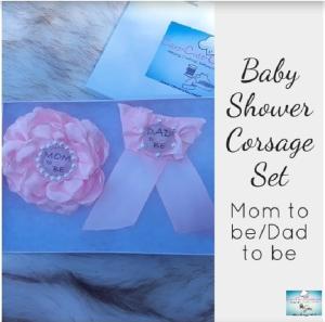 baby shower corsage set